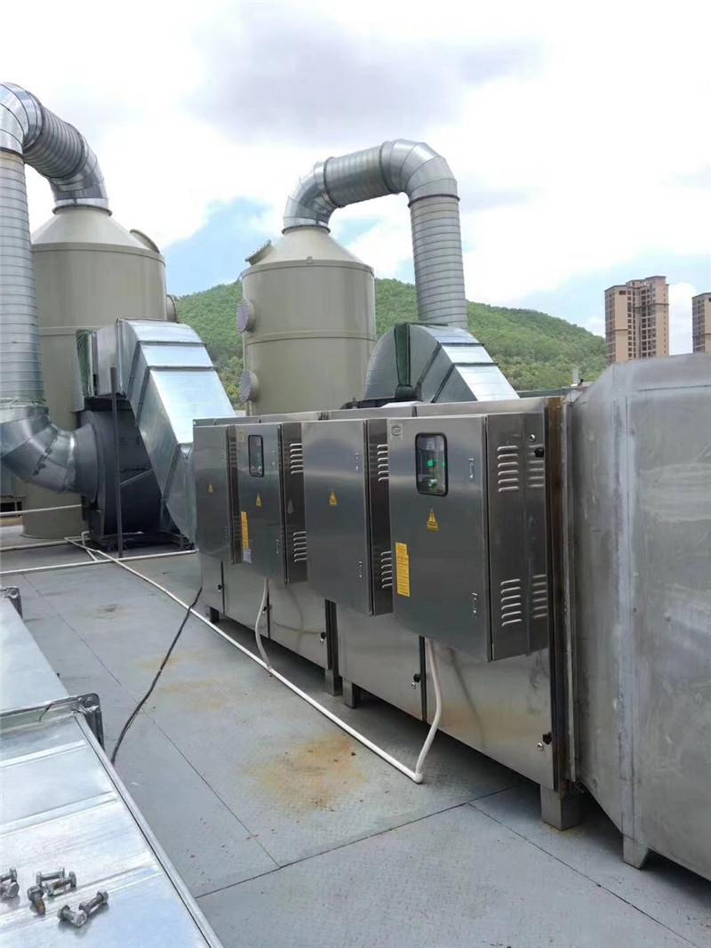 PP喷淋塔+UV光解ballbet网站净化器+活性炭吸附器